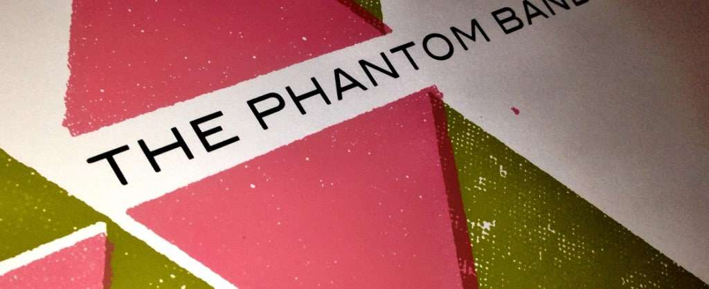 Gig poster for The Phantom Band