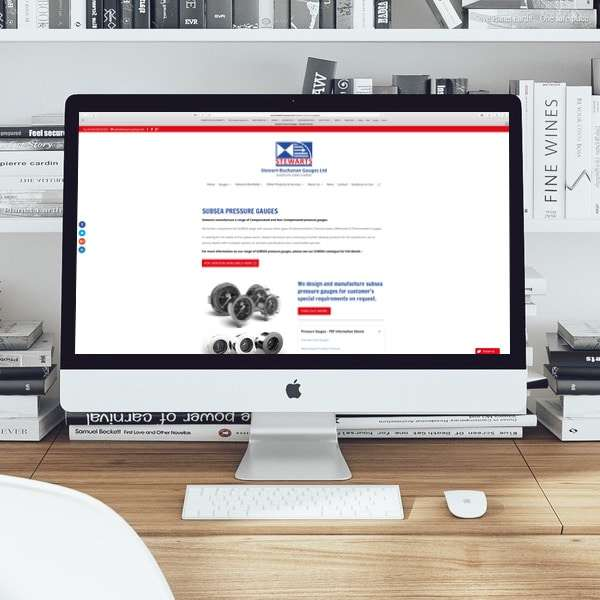Website design for The Stewarts Group
